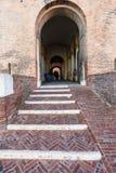 Gate in Castello Estense in Ferrara city Stock Photo