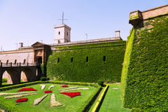 Gate of Castillo de Montjuic in   Barcelona,  Spain Stock Photos