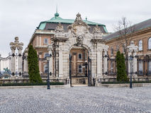 The gate of the castle in Budapest Stock Photos