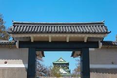 Gate of the Castle. Osaka castle landmark of Osaka Royalty Free Stock Images