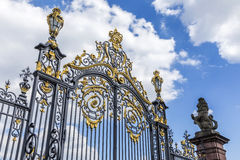 Gate of castle Phillipsruhe in Hanau Royalty Free Stock Images