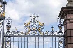 Gate of castle Phillipsruhe in Hanau Royalty Free Stock Photography