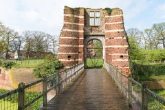 Gate of a castle ruin Royalty Free Stock Photo
