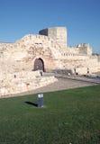 Gate in castle of Zamora Royalty Free Stock Image