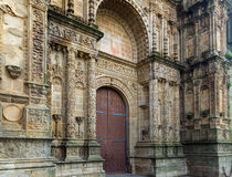 Gate of  Cathedral of Plasencia Royalty Free Stock Images