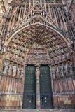 The gate of Cathedrale Notre-Dame Royalty Free Stock Photos