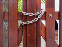 Gate and chain Royalty Free Stock Photography