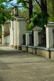 The gate of the charming Ukrainian city of Ivano-Frankivsk. Ukraine stock photo