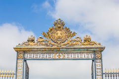 Gate at Chateau Versailles near Paris in France Royalty Free Stock Image