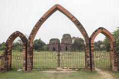 Gate of Chien Dan, Champa ancient tower in Quang Nam, Vietnam, is a group of three towers from the ancient Champa civilization.  Royalty Free Stock Image