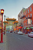Gate in Chinatown in Philadelphia PA Royalty Free Stock Photo