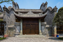 Gate of Chinese ancient style building Royalty Free Stock Photo