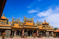 Gate of chinese temple Royalty Free Stock Photo