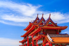 Gate of chinese temple Stock Photography