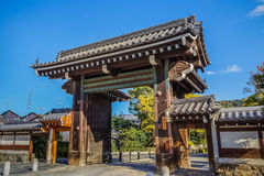 A gate at Chion-in temple in Kyoto Royalty Free Stock Photo