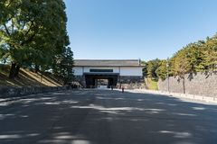 Gate in Chiyoda Park, Imperial Palace area. stock photography