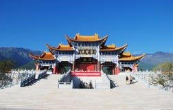 The gate of chongsheng temple. The Chongsheng Temple Gate,the temple is situated at the foot of the Cangshan Temple ,Dali,Yunnan Province ,China Royalty Free Stock Photos