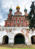 The Gate Church of Novodevichy Convent. In Moscow Royalty Free Stock Photo