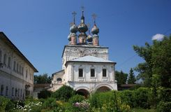 The Gate Church of St. John the Theologian in the Monastery of Archangel Michael. Russia. The Gate Church of St. John the Theologian (17th century) in the stock photos