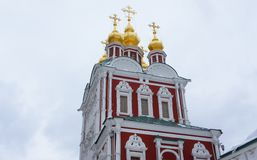 The Gate Church of the Transfiguration. In the Novodevichy Convent Stock Image