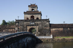 Gate of the citadel in Hue. Gate of the citadel  in Hue Stock Photography