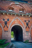 Gate of Citadel in Warsaw Stock Photography