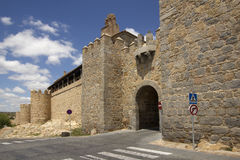 Gate in the city wall of Avila, Spain Stock Images