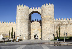Gate in the city walls of Avila Royalty Free Stock Photo