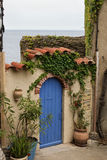 Gate in Collioure. Doorway to the ocean in Collioure in the South of France royalty free stock photo