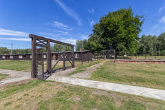 Gate of the concentration camp Royalty Free Stock Photography