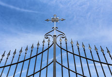 Gate with cross Stock Photos