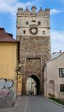 Gate Czech Republic Jihlava, Jihlava, fortification gate with a clock Royalty Free Stock Image