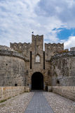 Gate d'Amboise in Rhodes, Greece stock photography