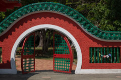 The gate of the Da Bogong Temple on Kusu Island Stock Photos