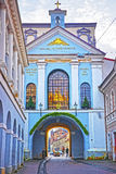 Gate of Dawn in the Old Town of Vilnius in Lithuania Stock Images