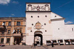 Gate of Dawn in Vilnius Old Town Royalty Free Stock Images