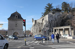 Gate de France and fort of Grenoble Royalty Free Stock Photos