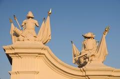 Gate detail of Bratislava castle Royalty Free Stock Image