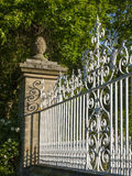 Gate detail. Wrought iron fence or gate detail Royalty Free Stock Image