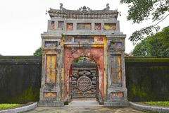 Gate in Dien Tho Residence. A gate in the Dien Tho Residence  in the Imperial City, Hue, Vietnam Stock Photos