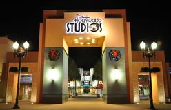 Gate of Disney Hollywood Studios at night Royalty Free Stock Images