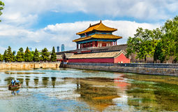 Gate of Divine Might in the Forbidden City - Beijing Royalty Free Stock Photography