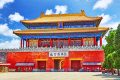 Gate of Divine Might, the northern gate. The lower tablet reads. The Palace Museum. Forbidden City Museum in Beijing-in the heart of city.China Stock Image