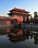 Gate of Divine Prowess, Forbidden City stock images