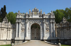 Gate in Dolmabahce Palace Royalty Free Stock Photography