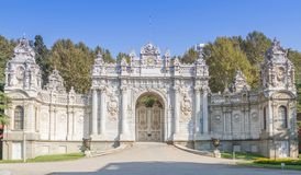 Gate Dolmabahce Royalty Free Stock Photography