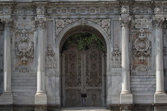 The gate of Dolmabahçe Palace Royalty Free Stock Photo