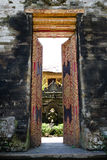 Gate Door in Ubud palace, Bali, Indonesia Royalty Free Stock Images