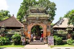 Gate Door of Ubud palace, Bali Stock Image