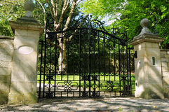 Gate and Driveway. Of an English Country Mansion Royalty Free Stock Photo